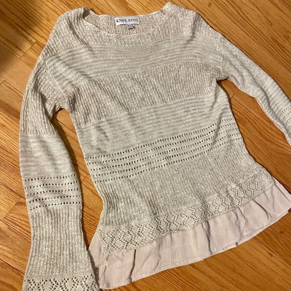 Knox Rose Cream Sweater XS
